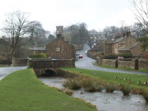 Downham - a picturesque Pennine village occasionally used as a film-set.   (Photo:  Alan Fleming)